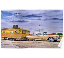 1950s T-Bird and Trailer Poster