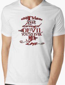 Daringest Devil Mens V-Neck T-Shirt