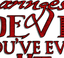 Daringest Devil Sticker