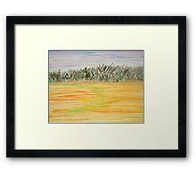 Sunset Field Framed Print