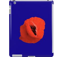 Poppy On Blue iPad Case/Skin