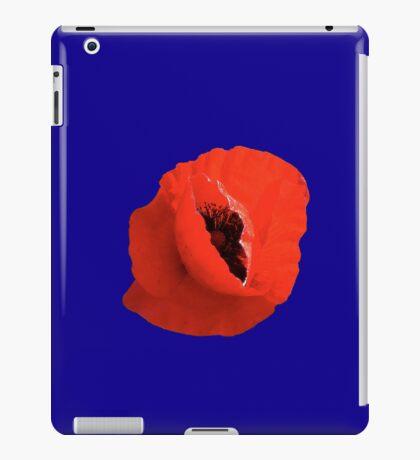 Poppy On Blue iPad Case/Skin