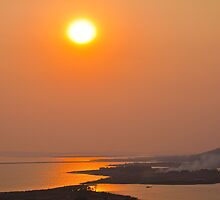 Vietnam. Halong. Sunset. by vadim19