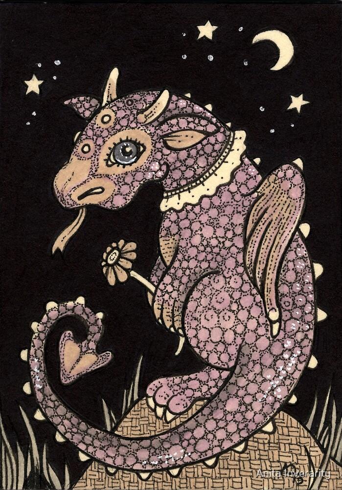 Pinky Puff Dragon by Anita Inverarity