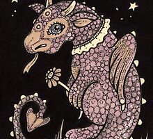 Pinky Puff Dragon by Anita Inverarity