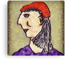 Lady in red hat Canvas Print