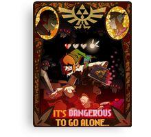 It's Dangerous To Go Alone Canvas Print