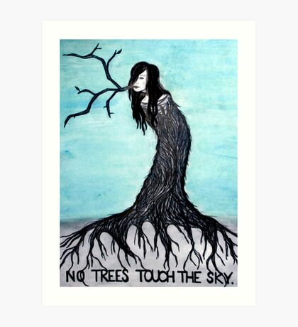 no trees touch the sky (2011) Art Print