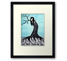 no trees touch the sky (2011) Framed Print