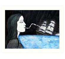 loose lips sink ships (2011) Art Print