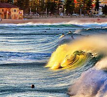 The Surf at Manly by Pete Evans