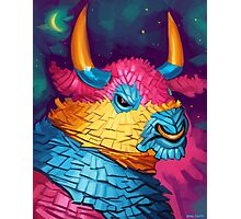 Bull Piñata Photographic Print