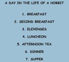 A Day In The Life Of A Hobbit Baby Tee