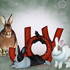 Christmas Bunnies by DMBell