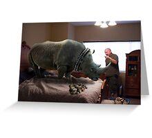 Bad Rhino! Greeting Card