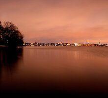 Hamburg silhouette. by Kathy Behrendt