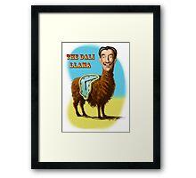All hail the mysterious Dali Llama Framed Print
