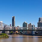 Brisbane City, Storey Bridge, 2013. by johnrf
