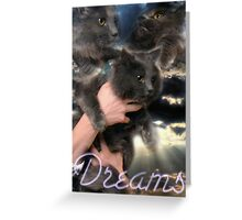 Cat Dreams Greeting Card