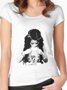 honey cocaine halftone Women's Fitted Scoop T-Shirt