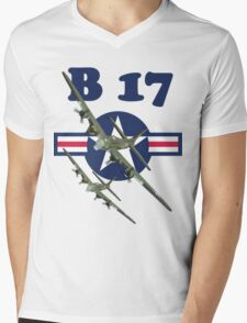 B 17 Tee Shirt Mens V-Neck T-Shirt