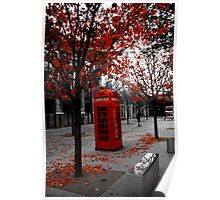 Phone box in London Poster