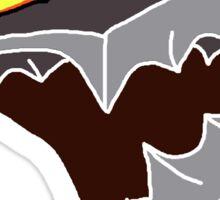 Berserk Armor Helmet - White Outlines Sticker