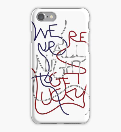 We're up all night to get lucky_SMALL iPhone Case/Skin