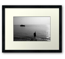 The Last Ferry Framed Print