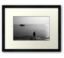 The Last Ferry Framed Print