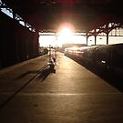 London Bridge Station - The Winter Sun by SwanStarDesigns