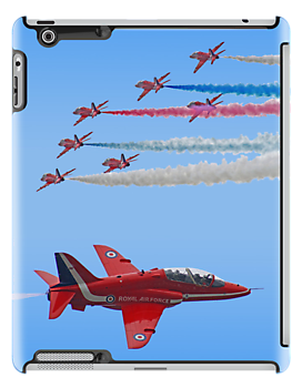 Red Arrows I Pad Case by Colin J Williams Photography