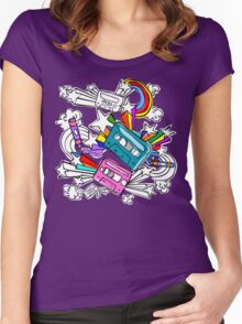 I'd Like to Spend The  Day Colouring with Crayons Women's Fitted Scoop T-Shirt