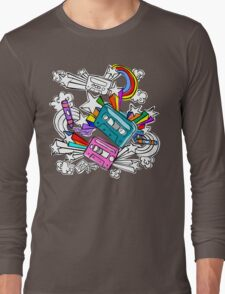 I'd Like to Spend The  Day Colouring with Crayons Long Sleeve T-Shirt