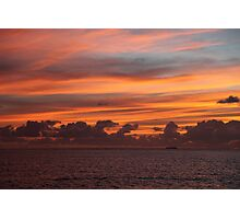 Sunrise Over a Coral Cay Photographic Print