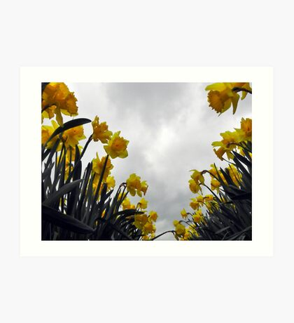 Yellow cloud burst Art Print