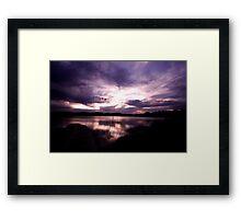 Merimbula Lake Dusk Reflections No. 1 Framed Print
