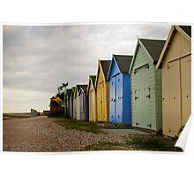 Suffolk Beach Houses Poster