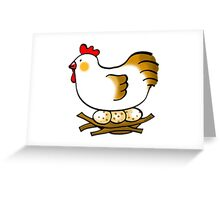 cute chicken and eggs Greeting Card
