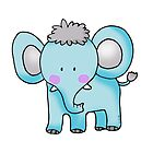 blue baby elephant by CuteCartoon