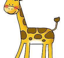 cute baby giraffe by CuteCartoon