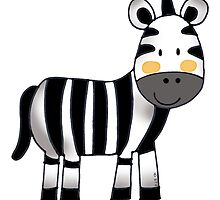 cute baby zebra by CuteCartoon