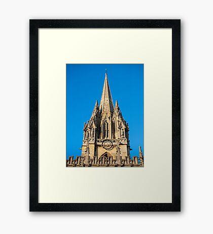 St Mary's Church Oxford England Framed Print