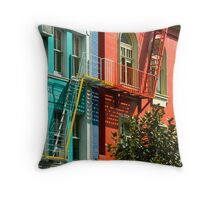 Colourful Office Buildings New Zealand Throw Pillow
