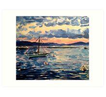 Vermont Sail Boats  Art Print