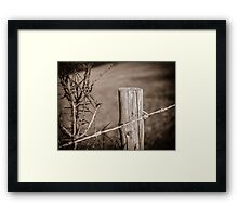 Fence Post Berkshire England Framed Print