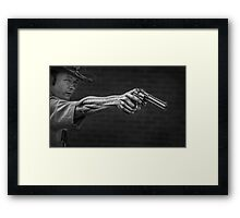 The Strong Arm Of The Law Framed Print