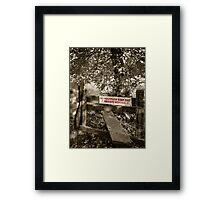 Private Fishing Berkshire England Framed Print