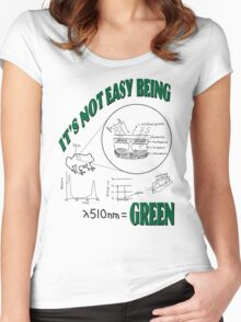 It's Not Easy Being Green (on light shirt) Women's Fitted Scoop T-Shirt