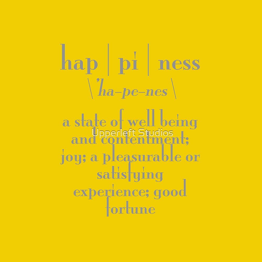 Happiness by Upperleft Studios